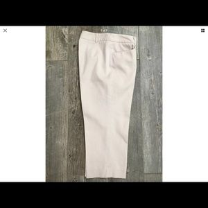 Willi Smith Tan Khaki Crop Capri Pants Sz 6